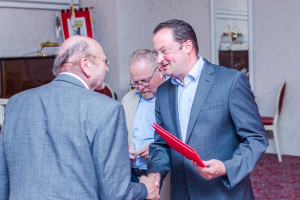 Peter Heidler wird für 40 Jahre SPD-Mitgliedschaft geehert
