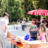 Spielplatzfest an der Sophienschule - Verkaufsstand