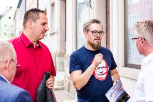 Besprechung mit den Bürgermeistern von Münchberg und Helmbrechts