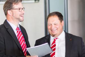 Besichtigung des Hofer Eisteichs mit Staatssekretär Florian Pronold