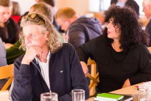 Die Stadtratskandidaten Axel Thiel und Sabine Pinkas