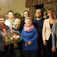 Gruppenbild SPD-Ortsverein Hof-Mitte mit dem neuen Vorsitzenden Patrick Leitl
