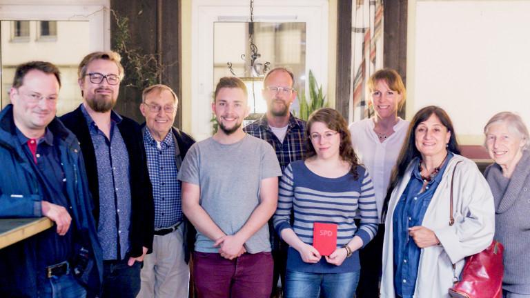 SPD-Ortsverein Hof-Mitte mit Vorsitzenden Patrick Leitl (Restaurant Treffpunkt, Hof an der Saale)