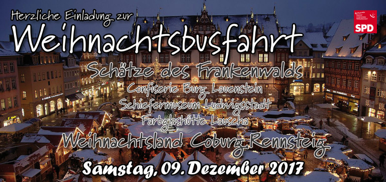 Vorderseite Weihnachtbusfhartskarte 17