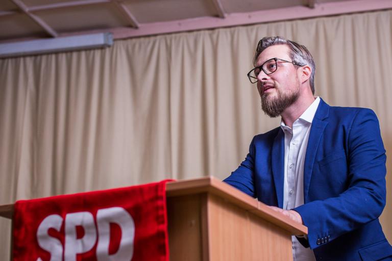 Leitl Rednerpult Stadtparteitag 2018