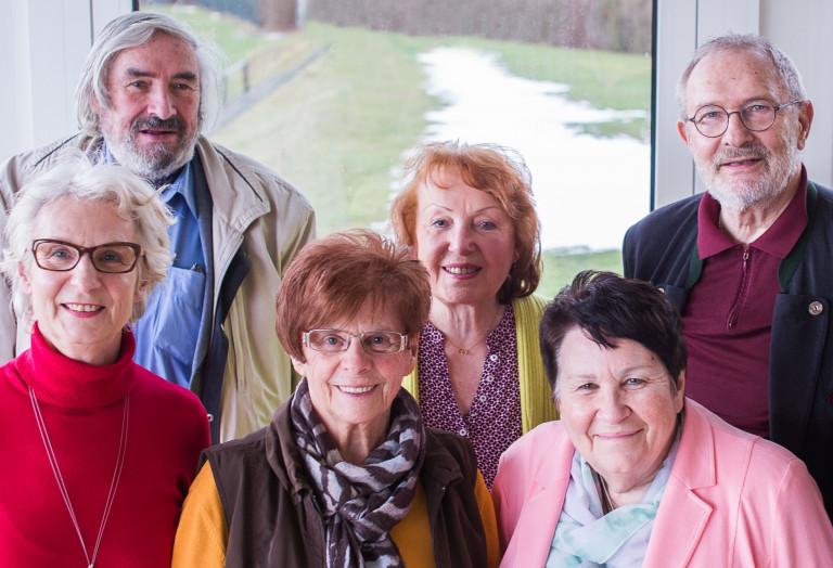 Vorstand der SPD-Arbeitsgemeinschaft 60plus Hof. V.l.n.R. Gabriele Rogge, Friedrich Wernz, Ursula Narr, Gerda Springer, Doris Feustel und 60plus-Vorsitzender Dieter Darkow